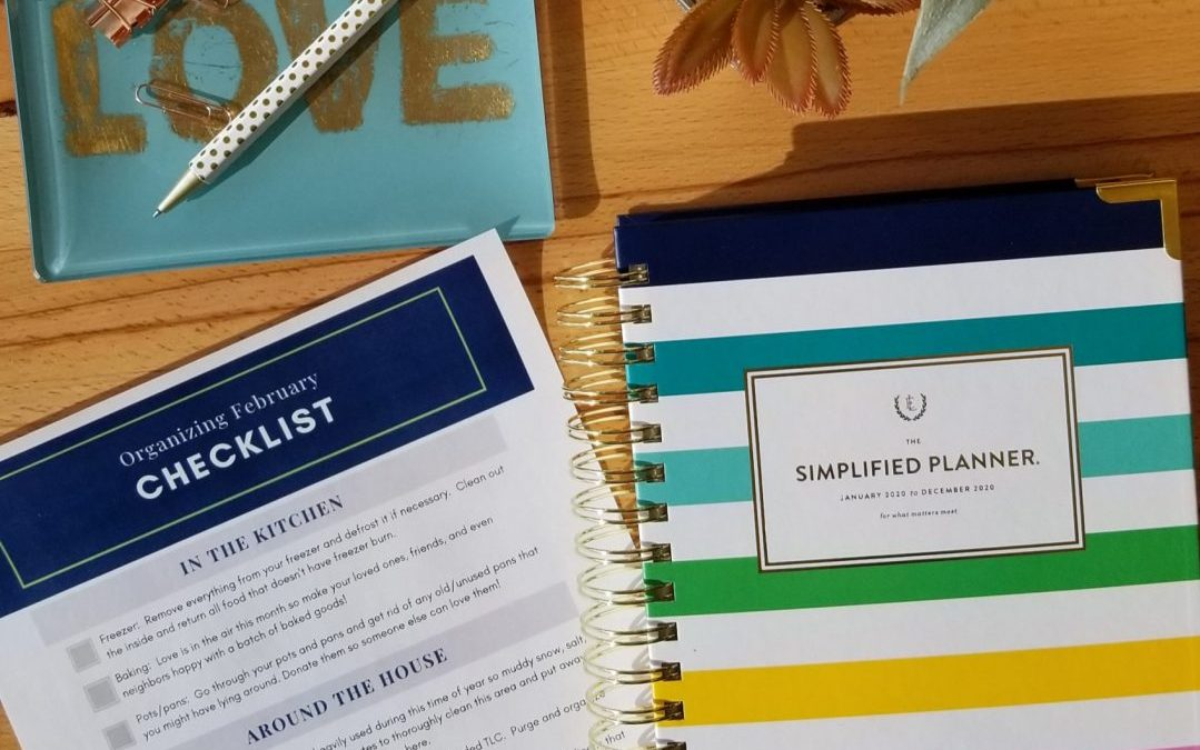 organizing february checklist