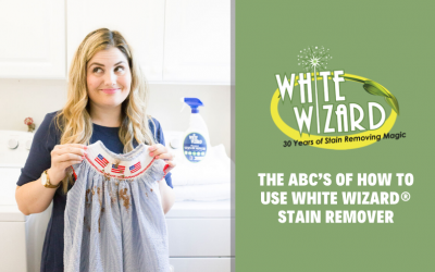The ABC's of How to Use White Wizard® Stain Remover