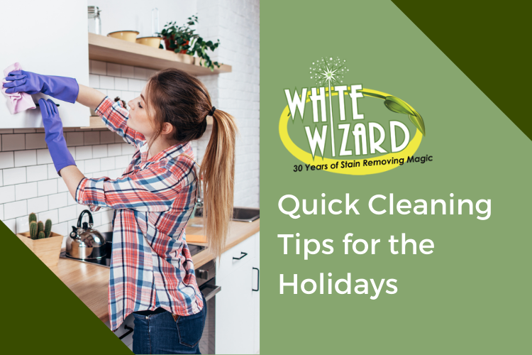quick cleaning tips, holidays, stain remover, safe cleaner