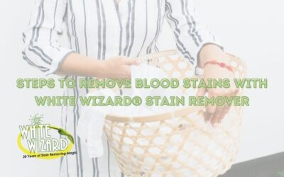 Steps to Remove Blood Stains with White Wizard® Stain Remover